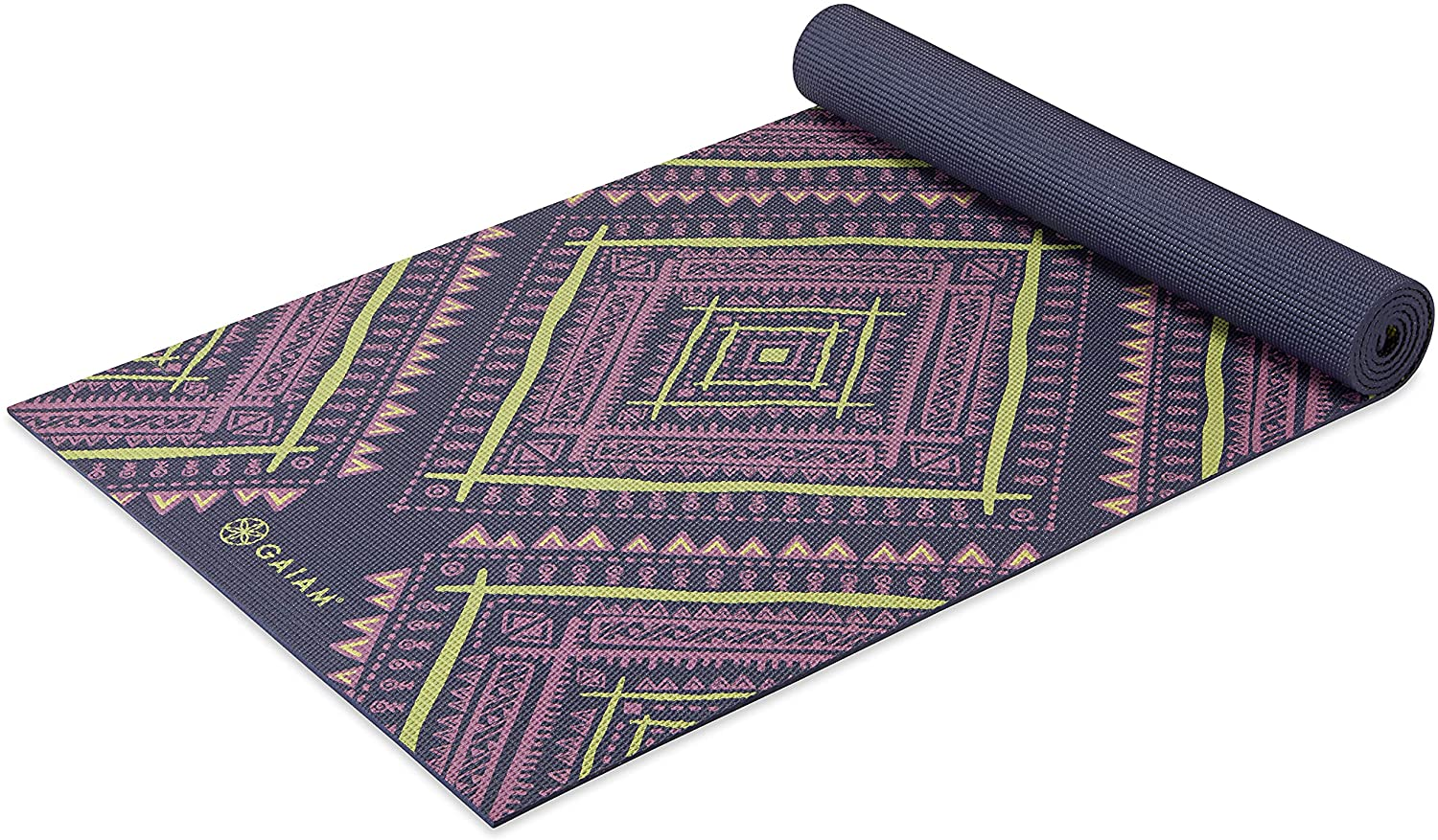 5mm Thick Non Slip Exercise & Fitness Mat  Tropical Dusk Navajo