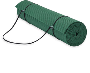 Gaiam Yoga Mat w/ Carrier Sling Green