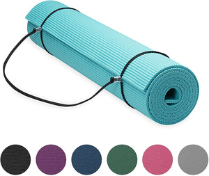 Yoga Mat w/ Carrier Sling Teal