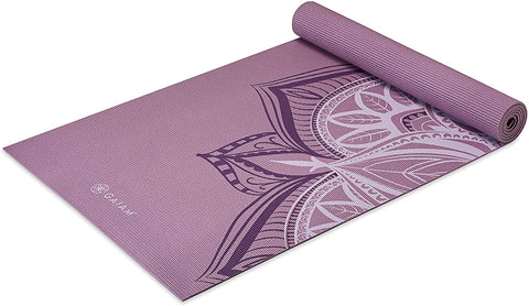 5mm Thick Non Slip Exercise & Fitness Mat  Violet Blush Point