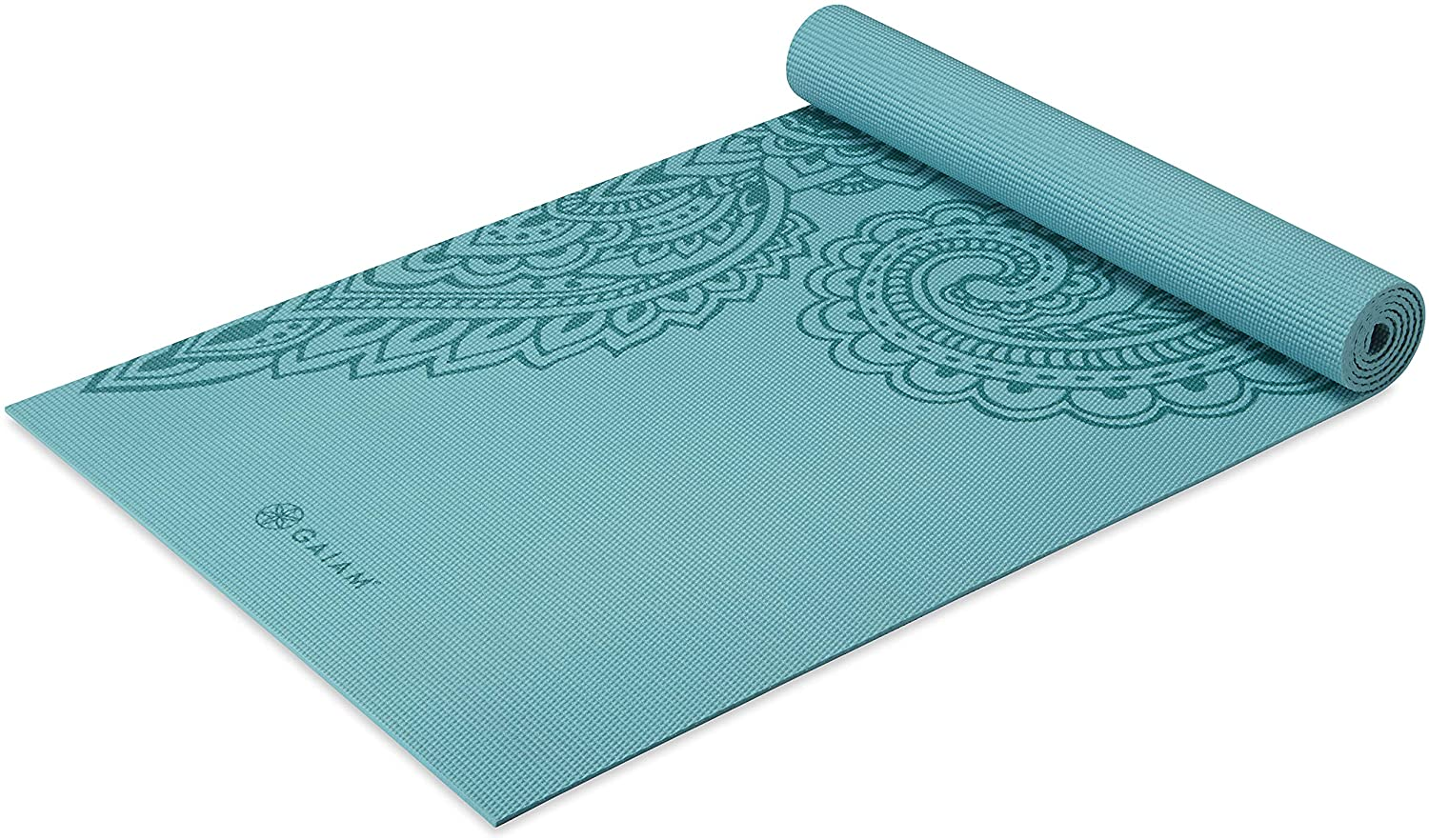 5mm Thick Non Slip Exercise & Fitness Mat  Paisley Frost