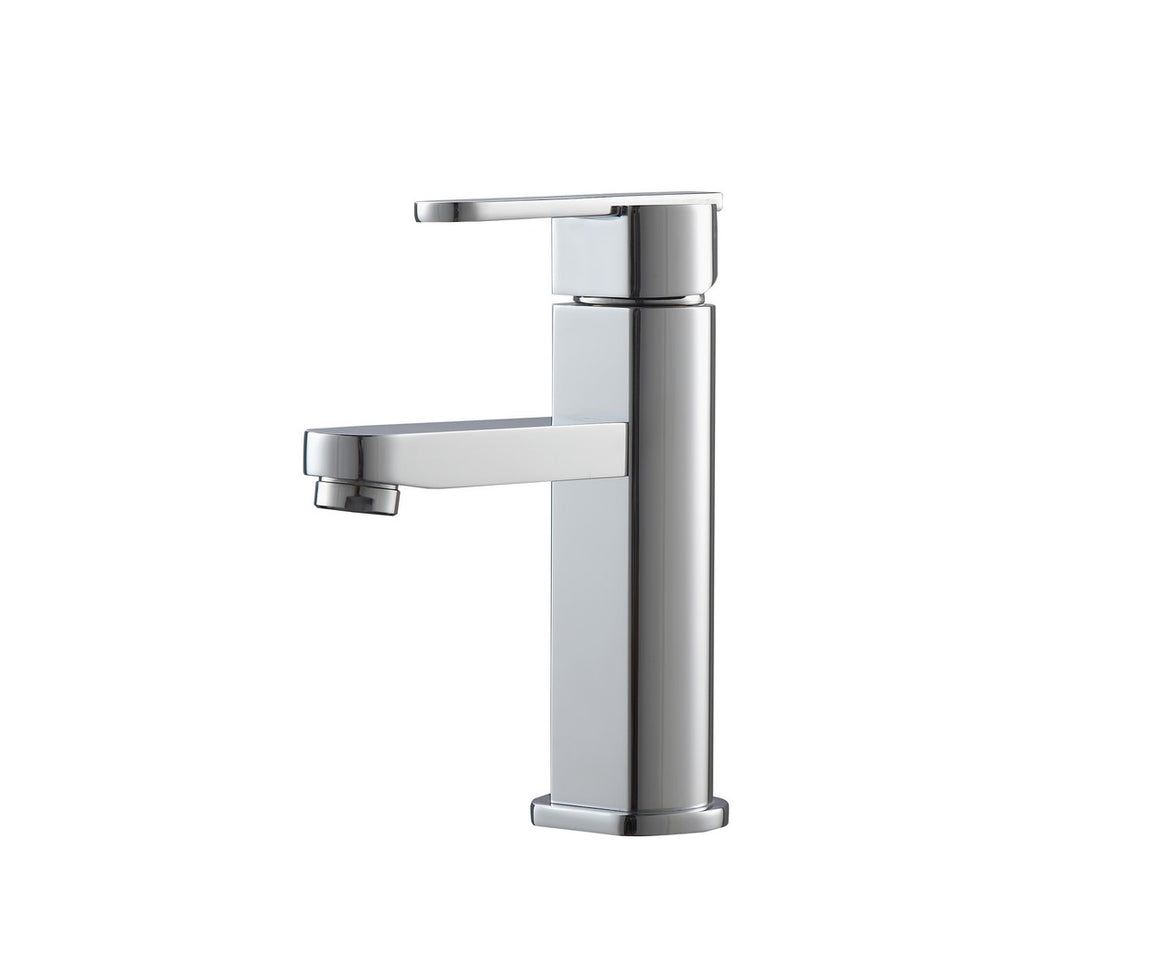 Aqua Roundo Single Hole Mount Bathroom Vanity Faucet – Chrome