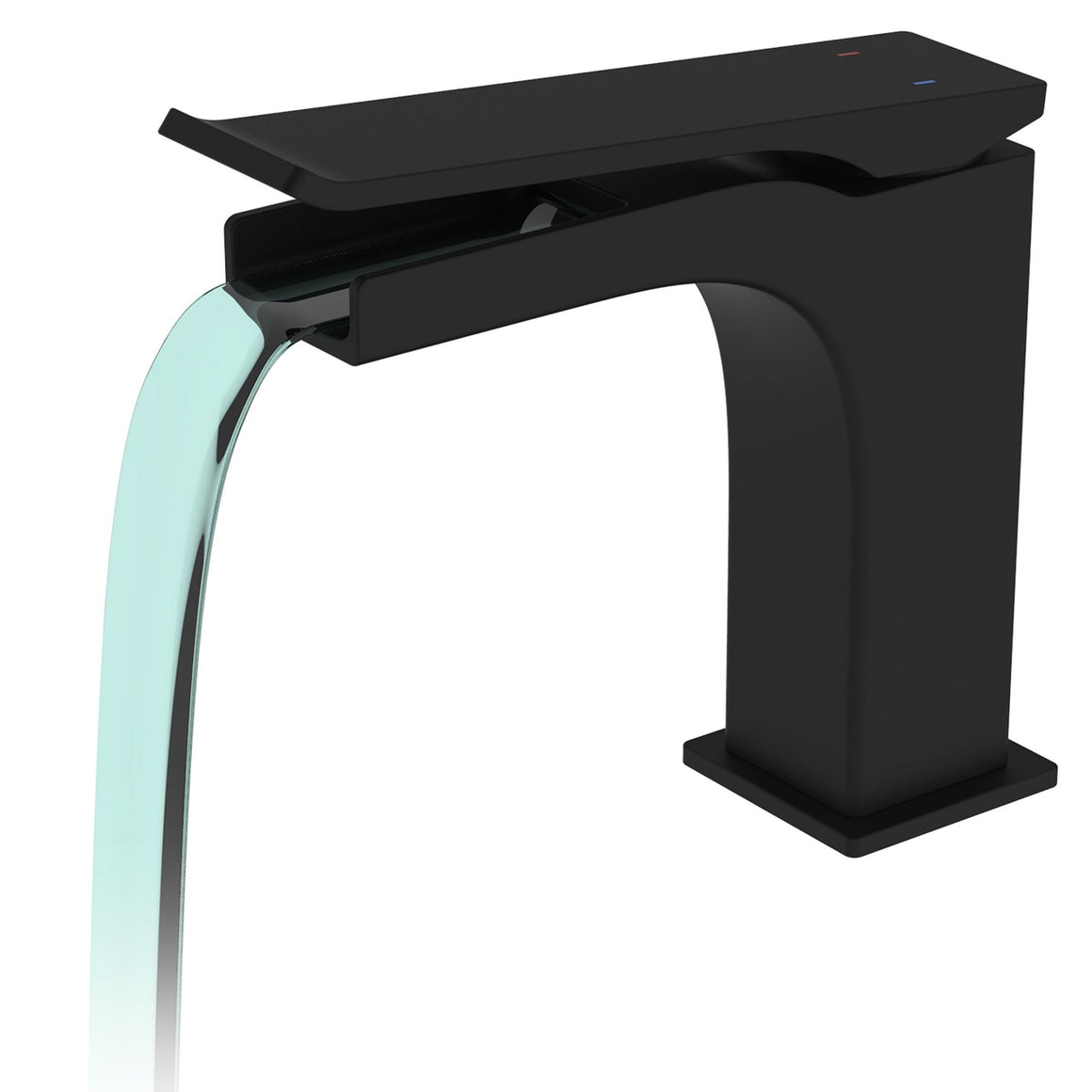 Cascata Single Lever Bathroom Vanity Faucet – Matte Black