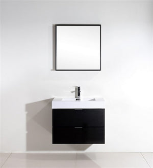 "30"" Keira, Black Espresso Wall Mount Bathroom Vanity"