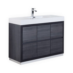 "48"" Vera, Grey Oak Free Standing Bathroom Vanity"