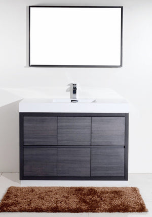 "48"" Bliss, Kubebath Grey Oak Free Standing Bathroom Vanity"