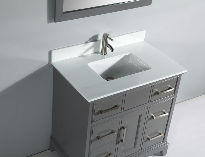 Inch Hampton Grey Bathroom Vanity HAGR Bath Plus - 36 inch grey bathroom vanity