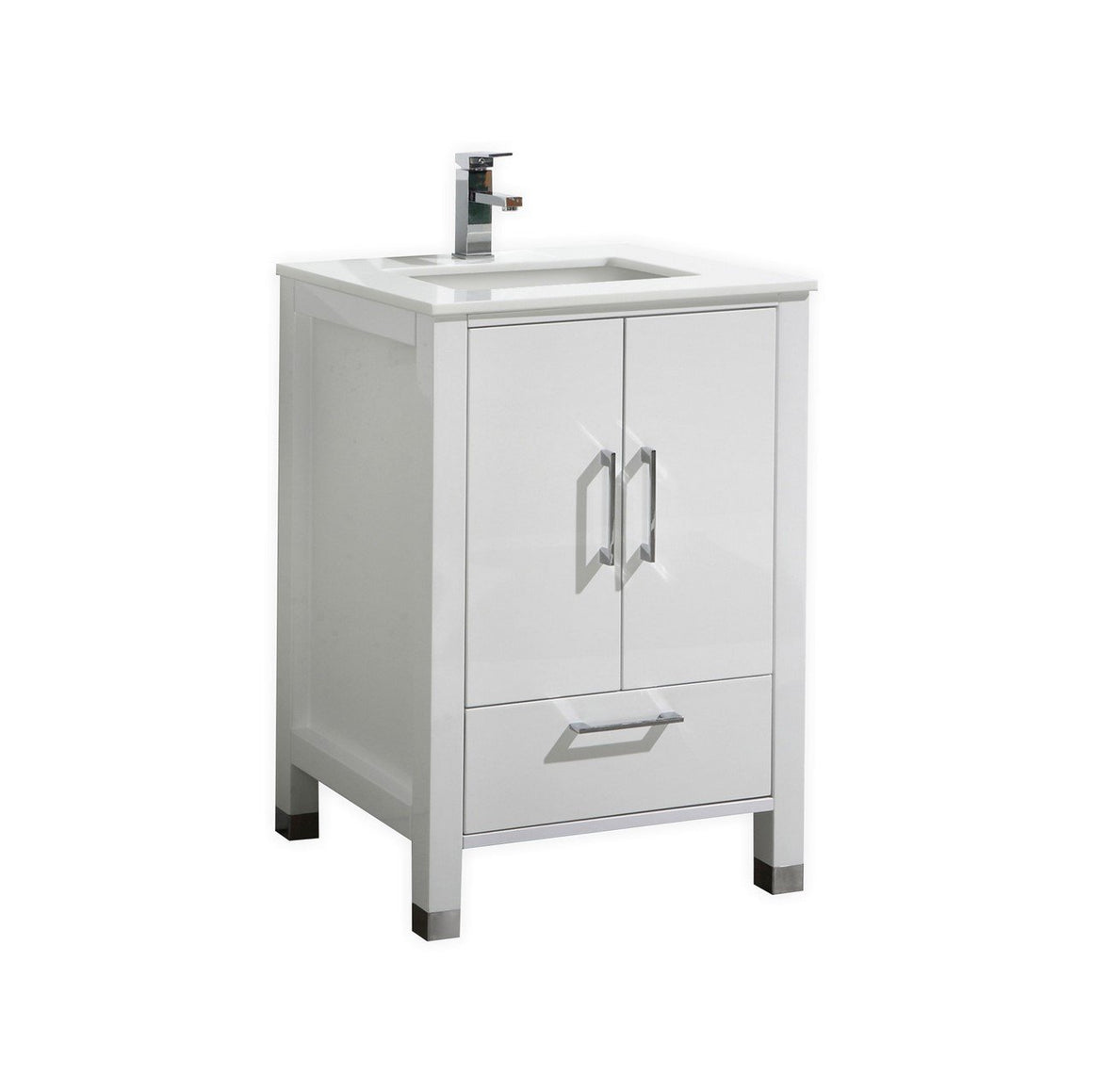 "24"" Anzia Gloss White Bathroom Vanity"