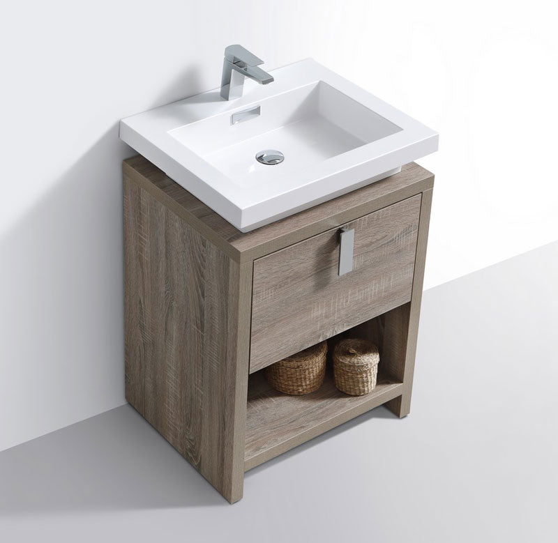 "24"" Levi, Havana Oak Modern Bathroom Vanity"