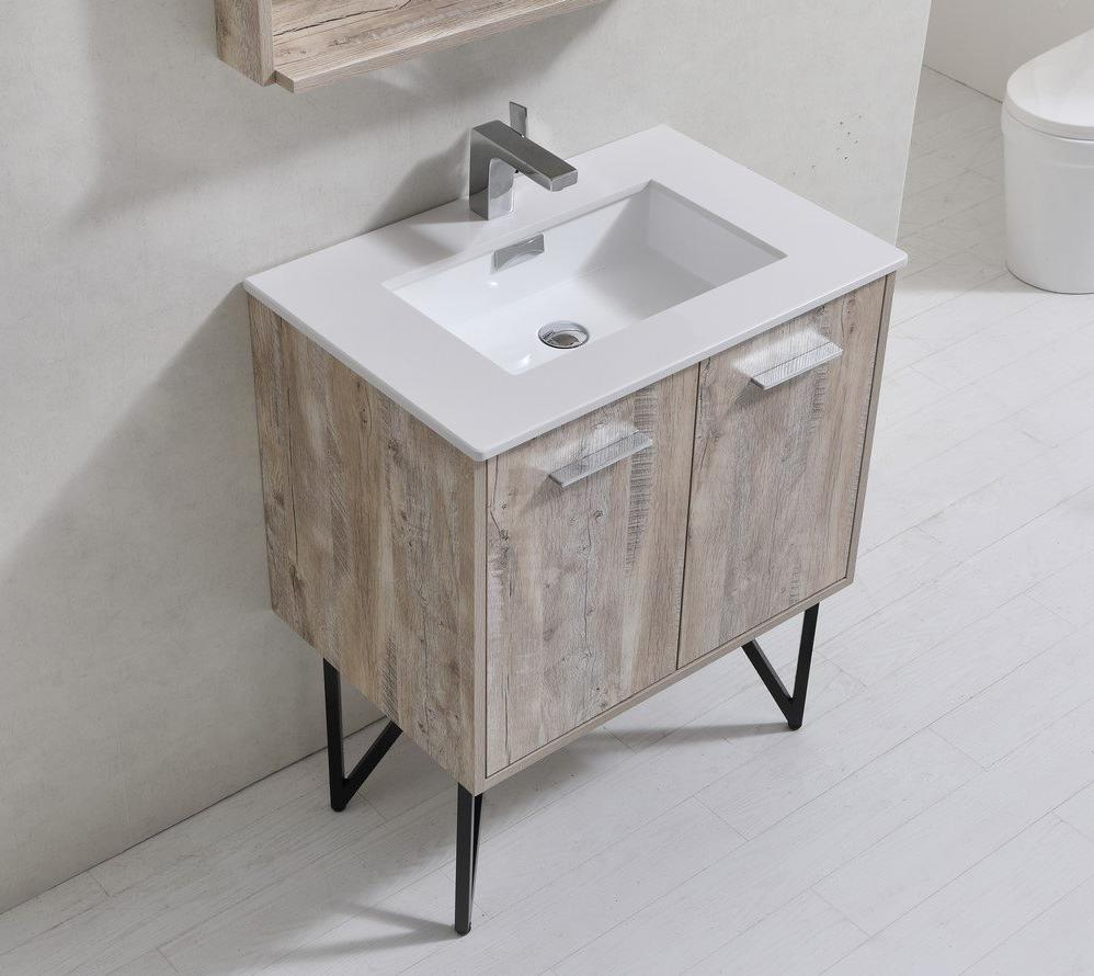 "30"" Forest Nature Wood Bathroom Vanity"