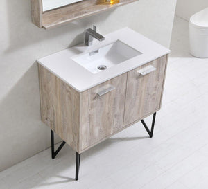 "36"" Forest Nature Wood Bathroom Vanity"