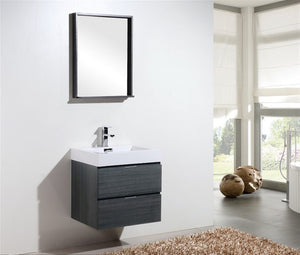 "24"" Keira, Grey Oak Wall Mount Modern Bathroom Vanity"