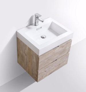 "24"" Bliss, Nature Wood Wall Mount Bathroom Vanity"