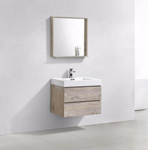 "30"" Keira, Nature Wood Wall Mount Bathroom Vanity"