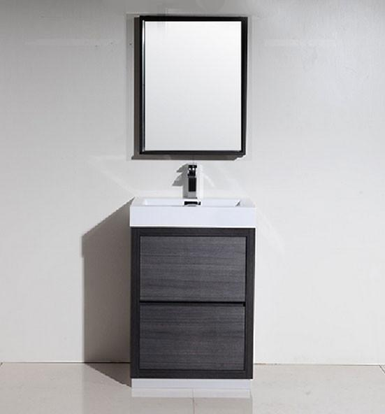 "24"" Bliss, Kubebath wall mount bathroom vanity"