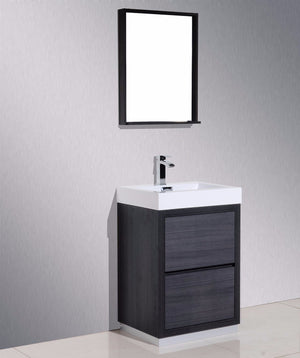"24"" Vera, Grey Oak Free Standing Bathroom Vanity"