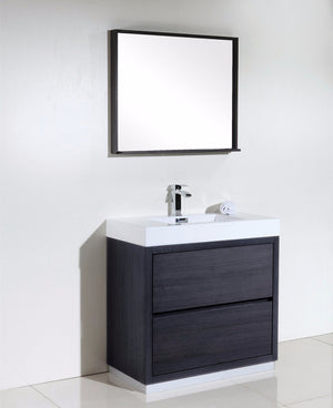 "36"" Bliss, Kubebath Grey Oak Free Standing Bathroom Vanity"