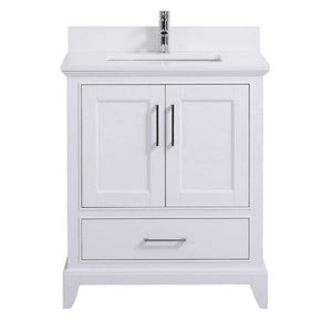 "30"" Adele White Bathroom Vanity. Back Ordered. Available for Pre-Order - ETA End of January"