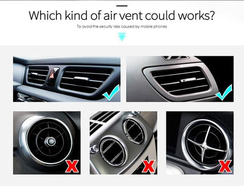 We offer magnetic phone holder for car vent