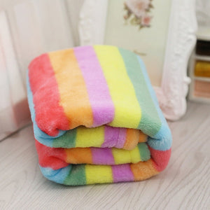 Soft Flannel Rainbow Blanket for Small/Medium Dog Cats
