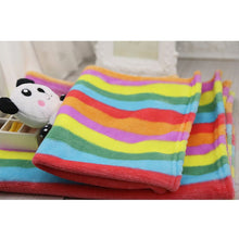 Load image into Gallery viewer, Soft Flannel Rainbow Blanket for Small/Medium Dog Cats