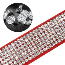 Load image into Gallery viewer, Bling Rhinestone Leather Collars For Small Medium Dogs Cats