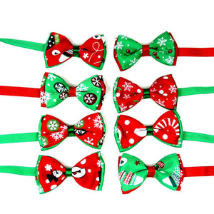 Christmas Holiday Bow Tie Collar for Cat Dog