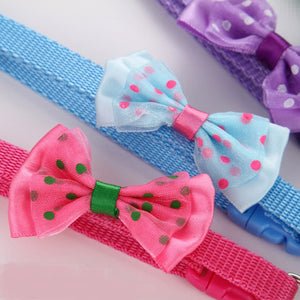 Dotted Bow Tie Collar with Bell for Cat Dog