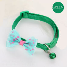 Load image into Gallery viewer, Dotted Bow Tie Collar with Bell for Cat Dog