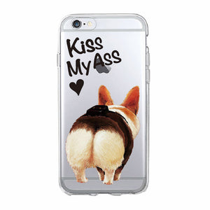 Soft iPhone Cover with Cute Fluffy Corgi Butt