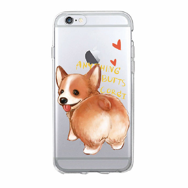Soft iPhone Cover with Fluffy Corgi Butt