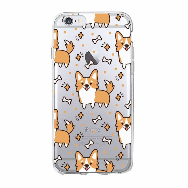 Soft iPhone Cover with Corgi and Treats