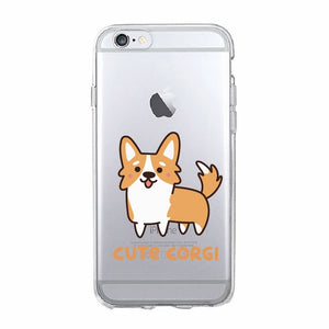 Soft iPhone Cover with Cute Corgi