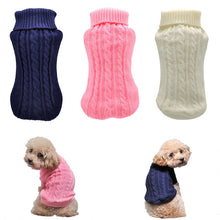 Load image into Gallery viewer, Warm Knitted Sweater for Puppy and Kitten