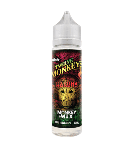 Hakuna - Twelve Monkeys - 50ml Short Fill grey-haze.myshopify.com