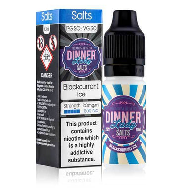 Blackcurrant Ice Salt Nic E-Liquid by Dinner Lady grey-haze.myshopify.com