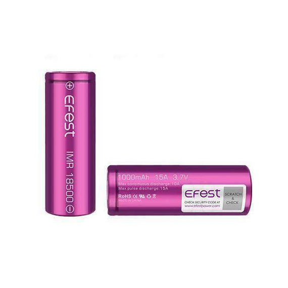 Efest 18500 1000Mah 15A Battery Flat Top