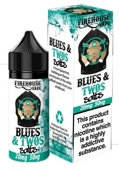 Blues and Twos - Spearmint Bubblegum Nic Salt by Firehouse Vape 10ml