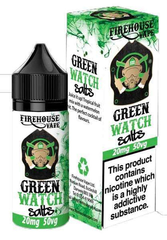 Green Watch - Watermelon and Tropical Fruit Nic Salt by Firehouse Vape 10ml grey-haze.myshopify.com