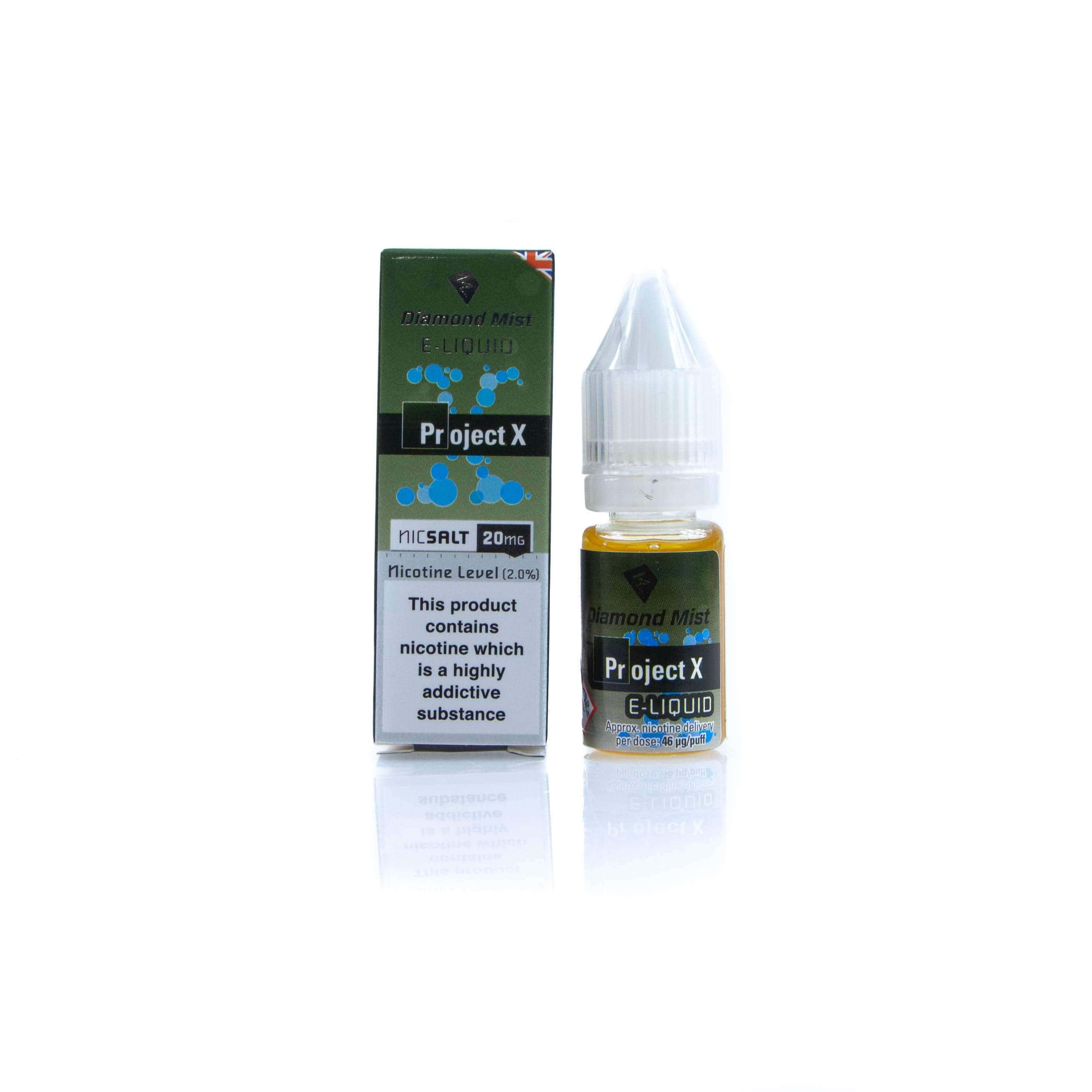 Diamond Mist E-Liquid East Project X Nic Salt grey-haze.myshopify.com