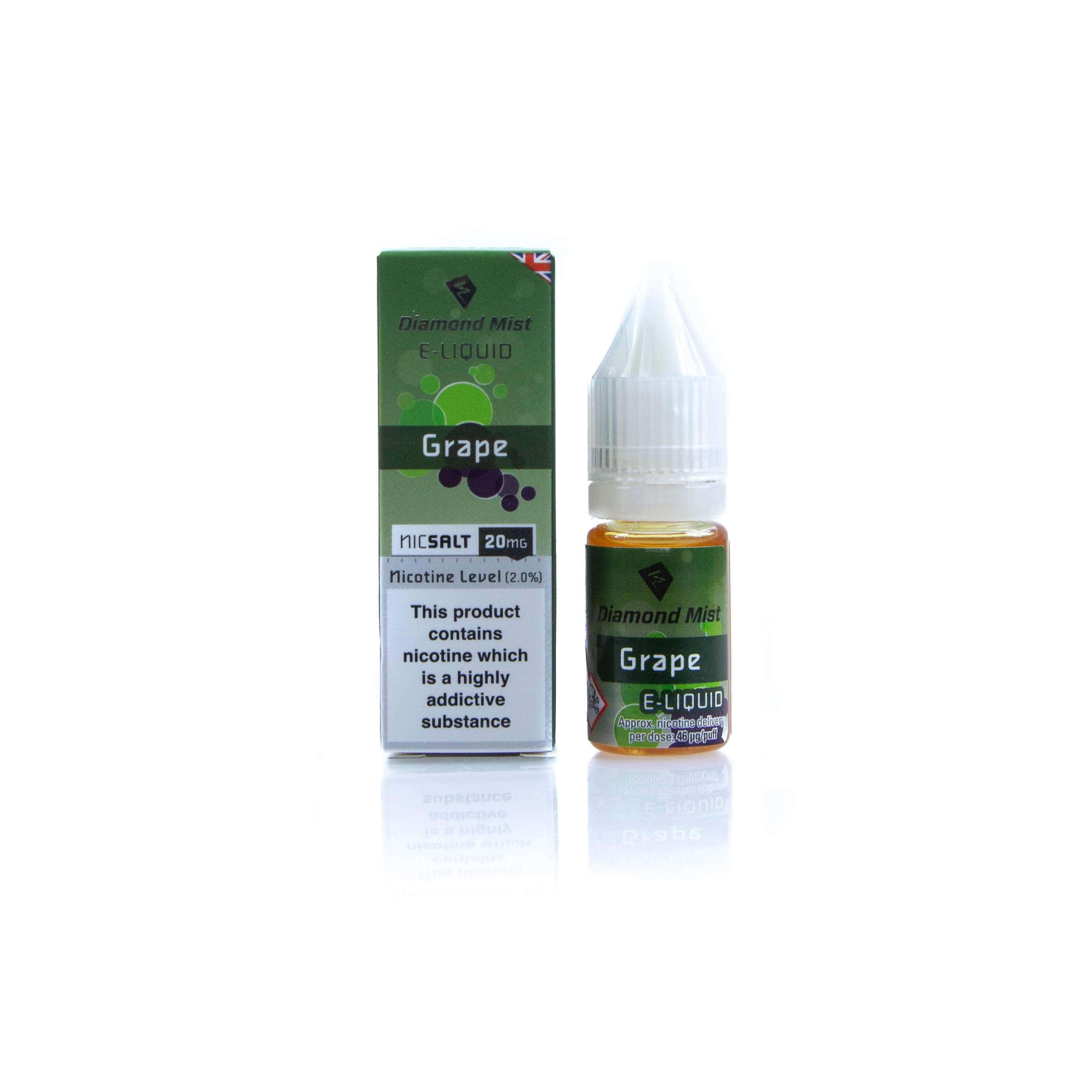 Diamond Mist E-Liquid East Grape Nic Salt grey-haze.myshopify.com