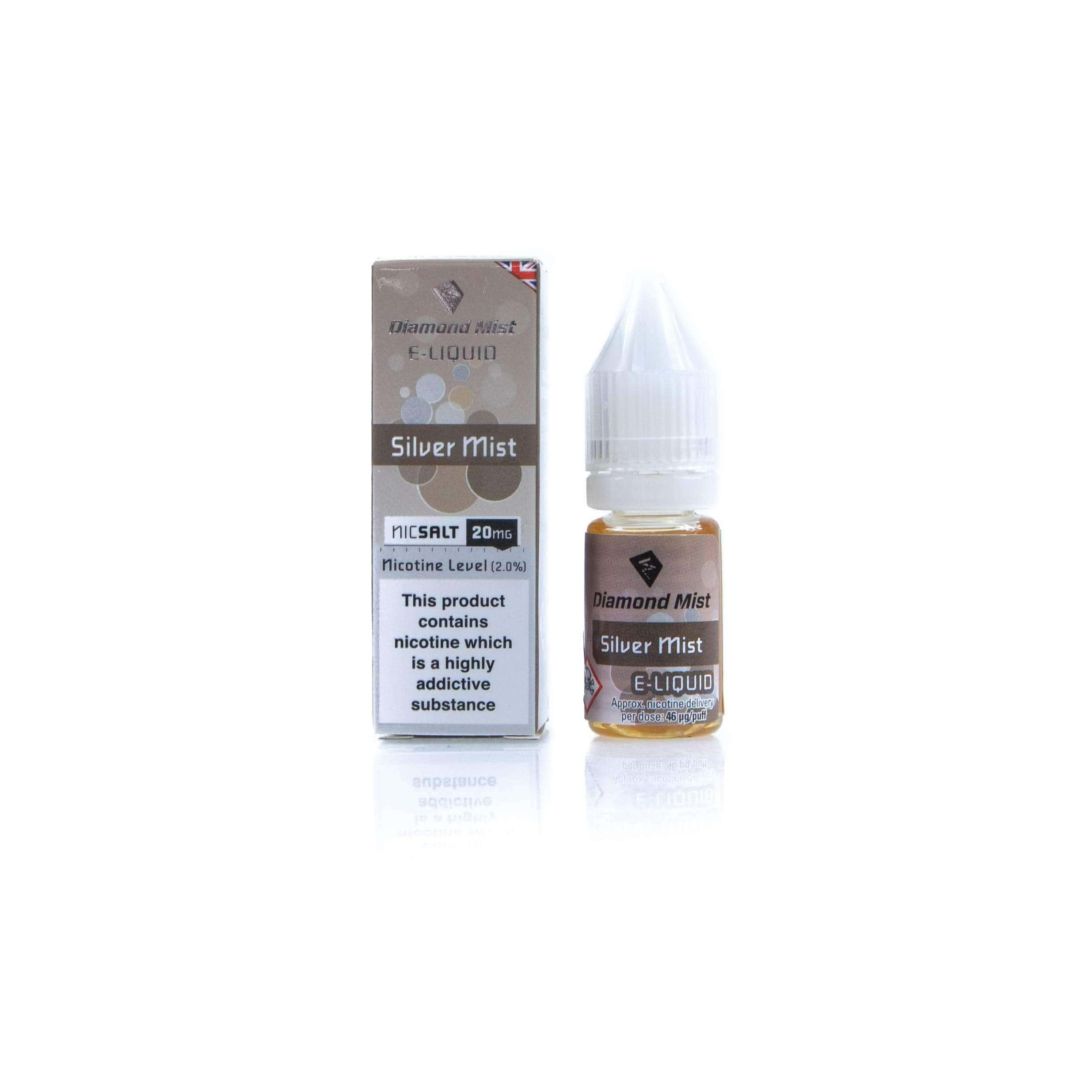 Diamond Mist E-Liquid East Silver Mist Nic Salt grey-haze.myshopify.com