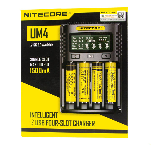 Nitecore UM4 4 Slot 1500mA Universal Battery Charger