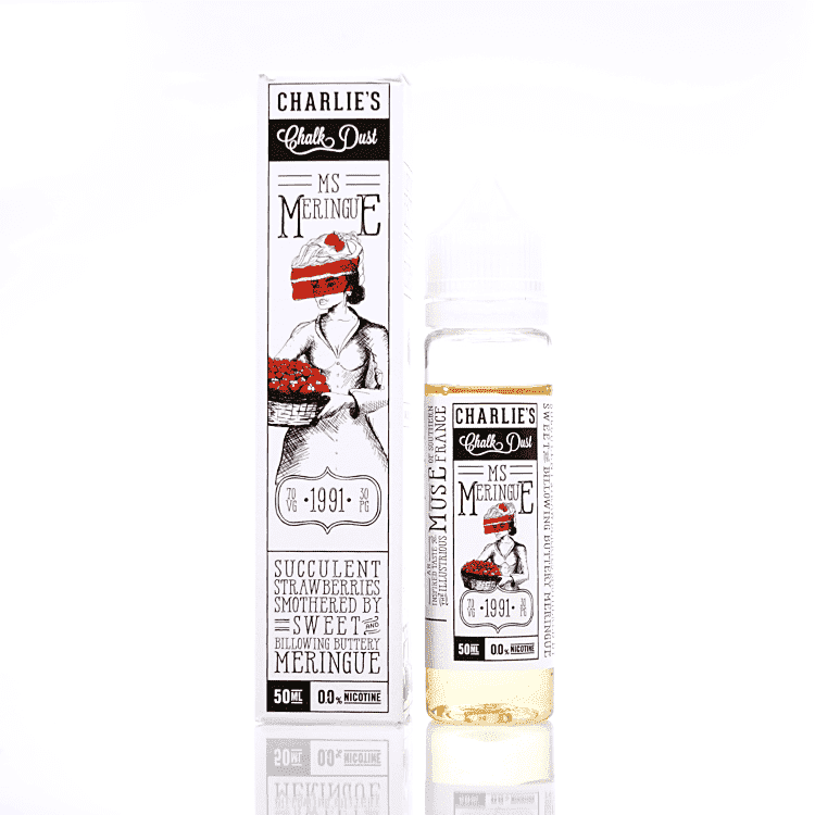 Charlie's Chalk Dust Strawberry Meringue by Ms. Meringue Short Fill 50ml grey-haze.myshopify.com