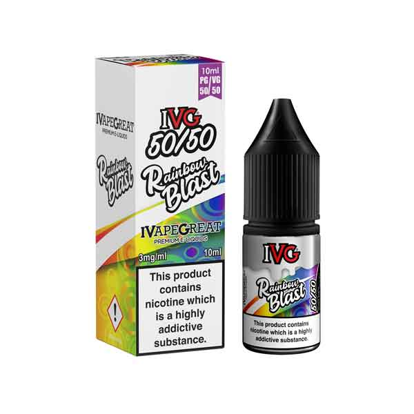 Rainbow Blast 50/50 E-Liquid by IVG Menthol 10ml