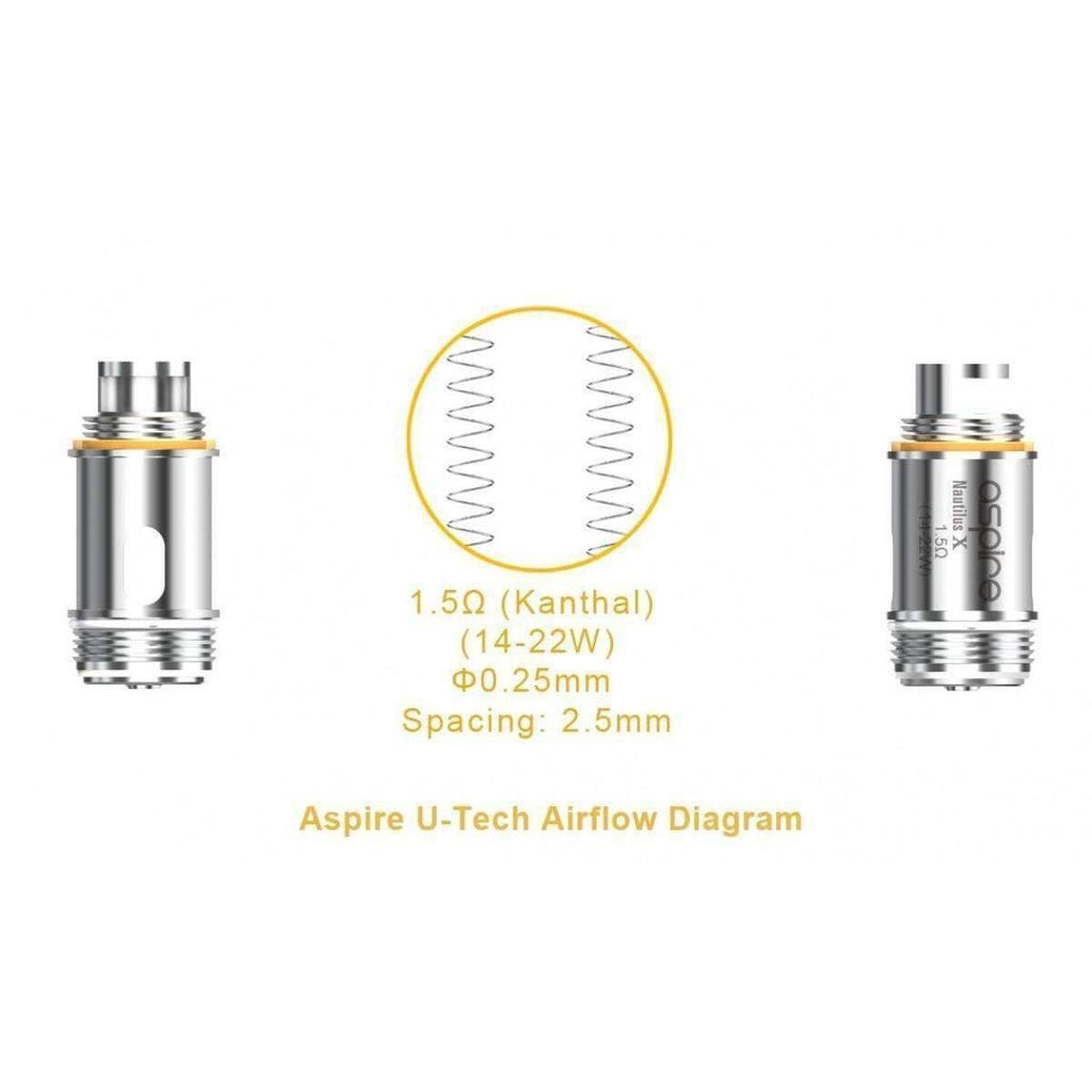 Aspire Nautilus X Replacement Coil - Grey Haze ECig Store