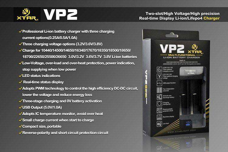 Accessories - XTAR VP2 Dual Bay Charger