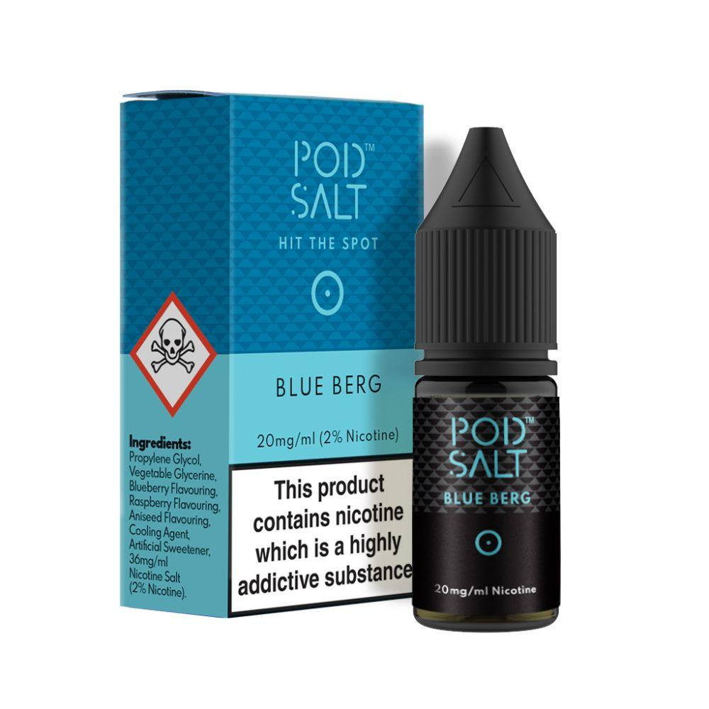 Blue Berg Nicotine Salt E-Liquid by Pod Salt grey-haze.myshopify.com