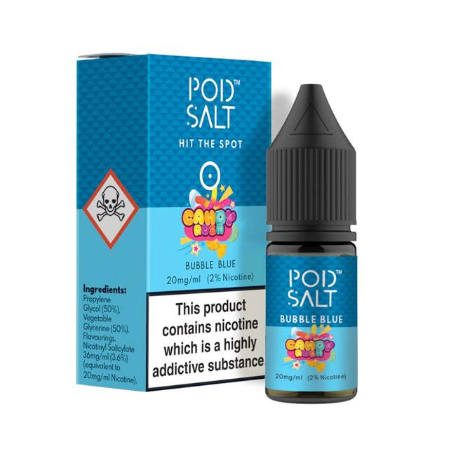 Bubble Blue Nicotine Salt E-Liquid by Pod Salt grey-haze.myshopify.com