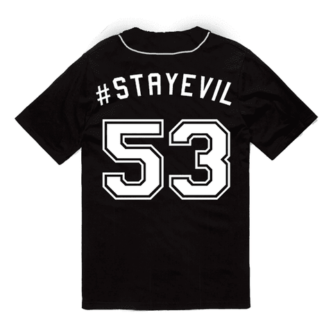 Evil Cloud Baseball Jersey grey-haze.myshopify.com